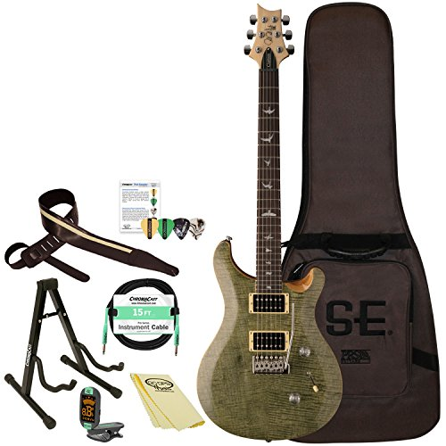 PRS SE Custom 24 with Gig Bag & Accessories, Trampas Green
