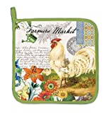 Pot Holder Kitchen Accessories Rooster Farmers Market by Michel Designs