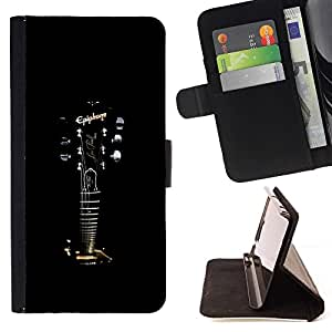 For Huawei Ascend P8 (Not for P8 Lite) Case , Epiphone Guitarra- la tarjeta de Crédito Slots PU Funda de cuero Monedero caso cubierta de piel