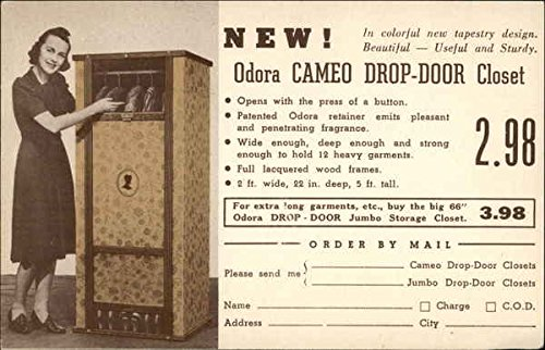 Vintage Advertising Postcard: New! Odora Cameo Drop-Door Closet from Pelletier's Topeka, Kansas (Drop Cameo)