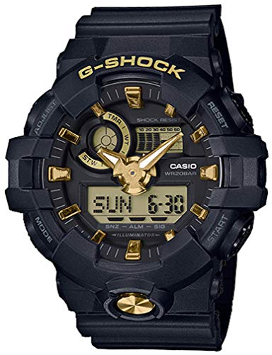 G-Shock Men's GA710B-1A9 Black/Gold One Size (Best Price G Shock Watches)
