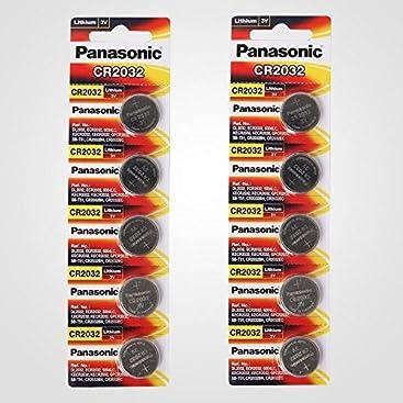 Panasonic CR2032 batería Redonda (10 Unidades, 3 V