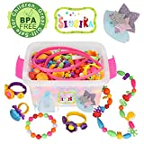 Pop Snap Beads Set for Kids with Storage Box ( 520 PCS) - Creative DIY Dress Up Jewelry Toys for...