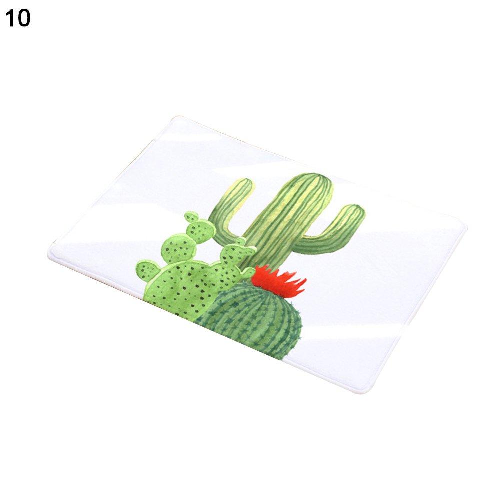 Cucina Porta per Bagno Vito546rton Tappetino Antiscivolo per la casa 1# Tappeto Morbido Antiscivolo con Motivo Cactus Creativo