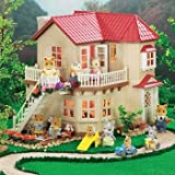International Playthings Calico Critters Cloverleaf Corners Town House with Turn On/Off Lights