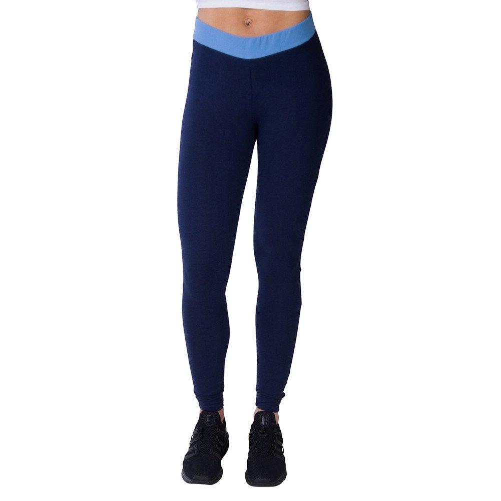 Fila Women's Rosario Leggings, Peacoat, Light Blue, White, S