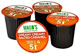 Maud's Gourmet Coffee Pods - Dreamy Creamy Salted Caramel, 100-Count Single Serve Coffee Pods - Richly Satisfying Premium Arabica Beans, California-Roasted - Kcup Compatible, Including 2.0