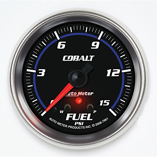 Auto Meter 7961 Cobalt 2-5/8'' 0-15 PSI Full Sweep Electric Fuel Pressure Gauge by Auto Meter