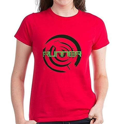 CafePress - Runner In The Maze - Womens Cotton T-Shirt (The Maze Runner T Shirt Girls)