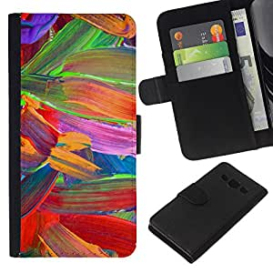 All Phone Most Case / Oferta Especial Cáscara Funda de cuero Monedero Cubierta de proteccion Caso / Wallet Case for Samsung Galaxy A3 // Floral Vibrant Colors Parrot