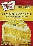 Duncan Hines Signature Deliciously Moist Lemon Supreme Cake Mix 16.5 Oz. (2 Pack)