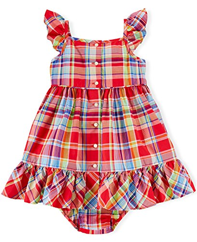 Ralph Lauren Sundress - Ralph Lauren Polo Baby Girls Plaid Sleeveless Sundress Dress Set (18 Months)