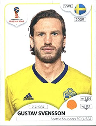 2018 panini world cup stickers russia 484 gustav svensson sweden soccer sticker