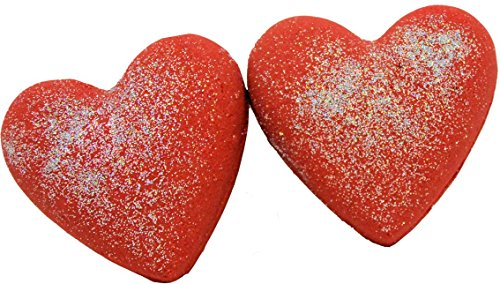 Bath Bombs Double Trouble 2 Red 3 Oz Heart Shaped Little Red Dress