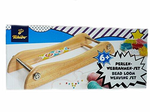 TCM Tchibo Perlen Webrahmen Set Bead Loom Weaving Set Holzwebrahmen