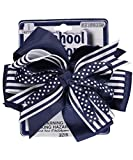 Jazz up her school hairdo while staying uniform-appropriate with this cute accessory from School Uniform. Hair clip is adorned with a bow. Ages 3+ Imported