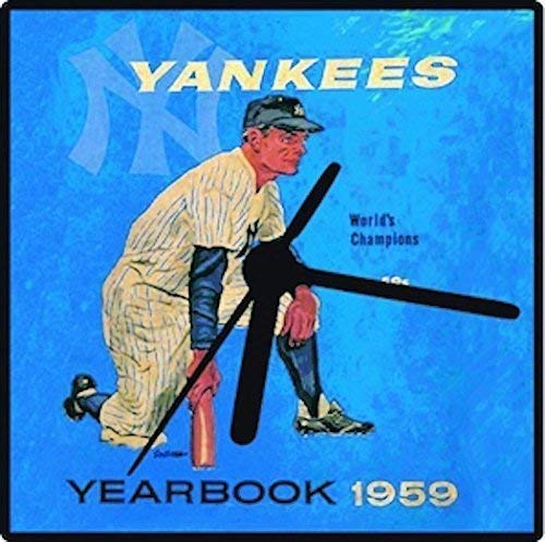 New York Yankees, Retro Yankees Clock, 2 Sizes for Wall or Desk, Baseball Clock, Great Yankee Fan Gift, Free Stand,Yanks Baseball Great Man Gift Handcrafted One at a Time