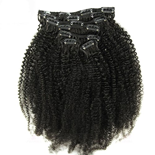 18inch Kinky Curly Clip In Hair Extensions Natural Hair 4B 4C African American Clip In Human Hair Extensions 120g 7Pcs/set Clip Ins