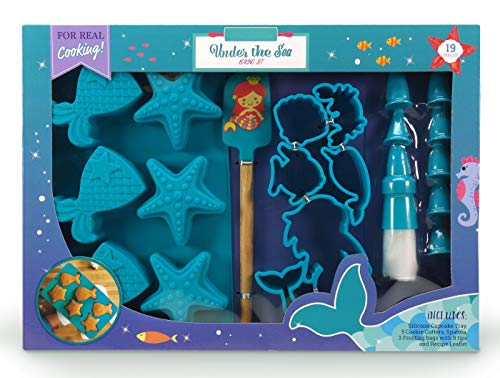 Homemade Mermaid Halloween Costume (Handstand Kids 19-Piece Mermaid Baking Set with Recipes for)