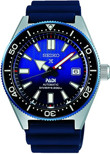 (Seiko Prospex PADI Reinterpretation 1965 Diver's 200m Special Edition Sapphire Sports Blue Gradation Wave Dial Watch SPB071J1)