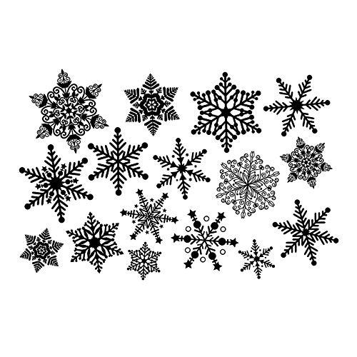 ONETOTOP Tamaño Grande Copo de Nieve Imagen prediseñada Etiqueta ...