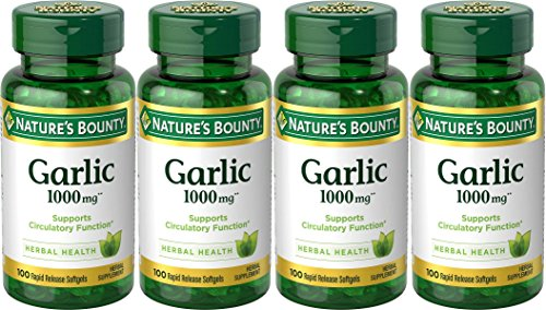 Extract Softgels (Nature's Bounty Garlic Extract 1000 mg Softgels 100 ea (Pack of 4))