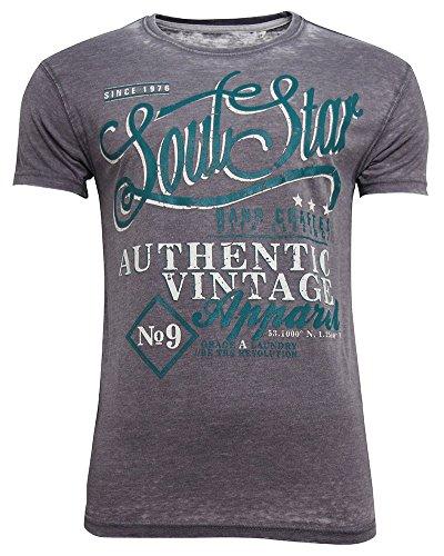 SoulStar - Camiseta - Cuello redondo - para hombre gris