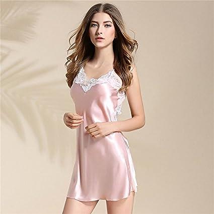 La ropa interior de los pijamas cortos de la Mujer Sexy Sexy Encaje Encaje Camisón arnés