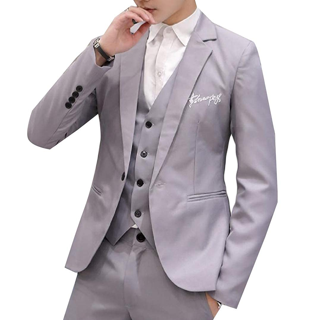 Coolred-Men Slim-Fit Business Single Button Wedding Formal Coat Jacket
