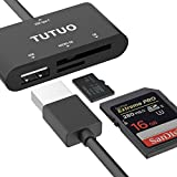 TUTUO USB C Card Reader, Type C to USB A HUB
