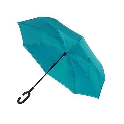 NAN Paraguas del coche del paraguas del revés Paraguas grande del hombre anti-hueso Paraguas