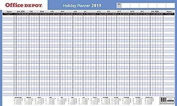 Office Depot Planeador de Fechas 2019-13months - Azul con ...