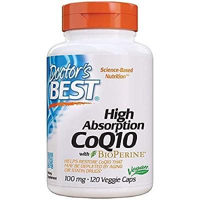 Doctor's Best High Absorption CoQ10 (100 mg), 120 Veggie Caps