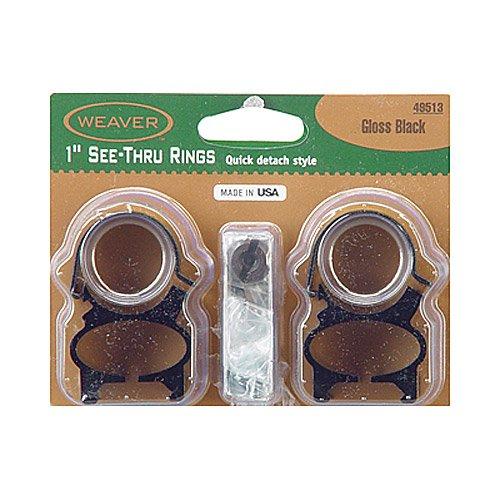 (Weaver See-Thru 1-Inch Detachable Rings (Gloss Black))