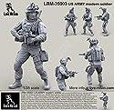 ライブ樹脂1: 35US Army Soldier with Ach Michヘルメット# 3樹脂キット# lrm35003