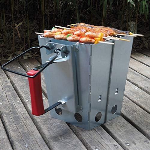 WYJBD Grill métal, Charbon de démarrage, Barbecue Démarrage Rapide Camping feu Stockage du Carbone Barrel Cuisinière électrique