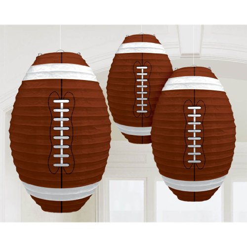 Football Centerpiece Ideas (Football-Shaped Paper)