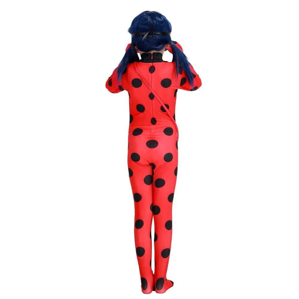 Tasche 3-teilig: Overall Ladybug Marienk/äfer Kost/üm f/ür M/ädchen Maske 104 ideal f/ür Karneval /& Fasching: Gr/ö/ße: S rot mit schwarzen Punkten