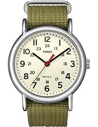 Unisex T2N651 Weekender 38mm Olive Nylon Slip-Thru Strap Watch
