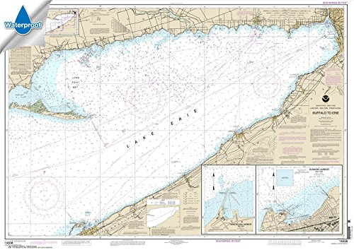 Price comparison product image NOAA Chart 14838: Buffalo to Erie; Dunkirk; Barcelone Harbor 32.4 x 45.7 (WATERPROOF)