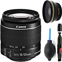 Canon 18-55mm IS STM Lens (WHITE BOX) + Deluxe Lens Cleaning Pen + Deluxe Lens Blower Brush + High Definition Wide Angle Auxiliary Lens