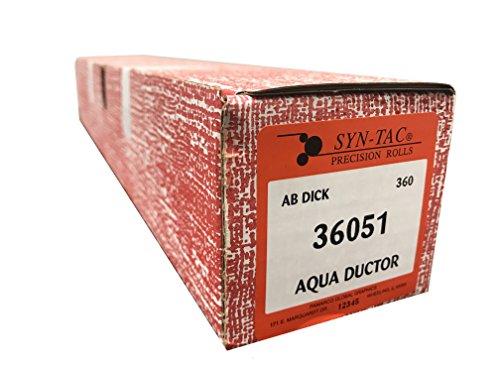 Syntac Aqua Ductor Chrome Rubber Roller for AB Dick for sale  Delivered anywhere in USA
