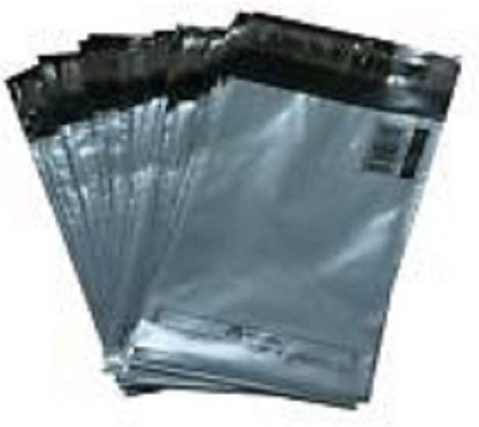 Grey Mailing Bags Strong 21 x 24 Inch (533x610mm) Extra Large Plastic Polythene Postage Mail Sacks by Packaging Pros