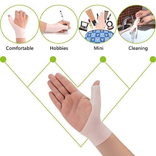 Phileex Carpal Tunnel Wrist Brace - Thumb Brace Right Hand (1pair) New Material Thumb Splint, Great for Tenosynovitis Gel Wrist Brace Carpal Tunnel, Typing, Wrist & Thumb Pain, Rheumatism,Arthritis by Phileex (Image #4)