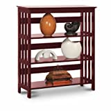 Cheap Mission Style Contemporary Book Shelf / Case Bookcase Bookshelf (Cherry)