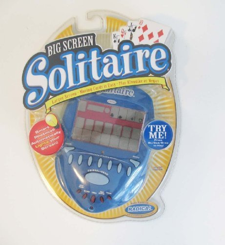 BIG SCREEN SOLITAIRE Lighted Electronic Handheld Game (2004) by Radica Games