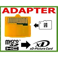 Micro SD to XD Picture Card Adapter for Olympus Camera (Yellow)