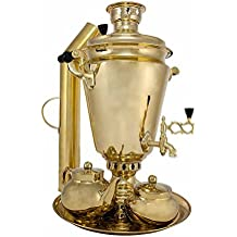 "Samovar on coal, charcoal, firewood 7 liters ""Traditional"" in the set ""Gift"""