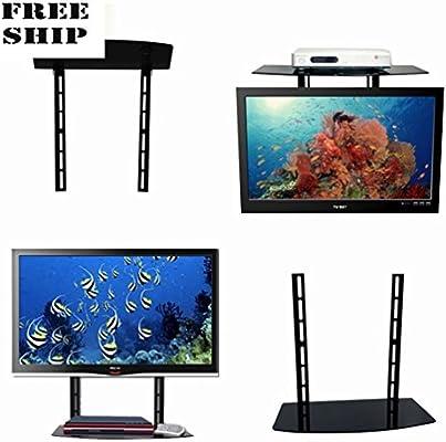 Soporte de pared para estante de cristal sobre TV componente caja de cable Dvr Dvd Stand: Amazon.es: Electrónica