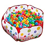 KUUQA Kids Ball Pit Ball Tent Toddler Ball Pit with Red Zippered Storage Bag for Toddlers Pets 39.4-inch by 19.7-Inch (Balls not Included)